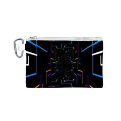 Seamless 3d Animation Digital Futuristic Tunnel Path Color Changing Geometric Electrical Line Zoomin Canvas Cosmetic Bag (s) by Mariart