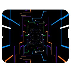 Seamless 3d Animation Digital Futuristic Tunnel Path Color Changing Geometric Electrical Line Zoomin Double Sided Flano Blanket (medium)  by Mariart