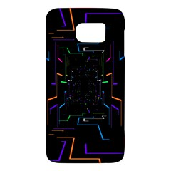 Seamless 3d Animation Digital Futuristic Tunnel Path Color Changing Geometric Electrical Line Zoomin Galaxy S6 by Mariart