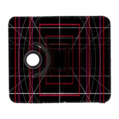 Retro Neon Grid Squares And Circle Pop Loop Motion Background Plaid Galaxy S3 (flip/folio) by Mariart