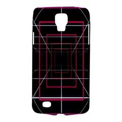 Retro Neon Grid Squares And Circle Pop Loop Motion Background Plaid Galaxy S4 Active by Mariart