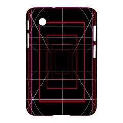 Retro Neon Grid Squares And Circle Pop Loop Motion Background Plaid Samsung Galaxy Tab 2 (7 ) P3100 Hardshell Case  by Mariart