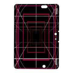 Retro Neon Grid Squares And Circle Pop Loop Motion Background Plaid Kindle Fire Hdx 8 9  Hardshell Case by Mariart