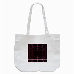 Retro Neon Grid Squares And Circle Pop Loop Motion Background Plaid Tote Bag (white) by Mariart