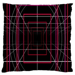 Retro Neon Grid Squares And Circle Pop Loop Motion Background Plaid Standard Flano Cushion Case (one Side) by Mariart