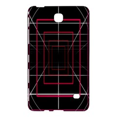 Retro Neon Grid Squares And Circle Pop Loop Motion Background Plaid Samsung Galaxy Tab 4 (7 ) Hardshell Case  by Mariart