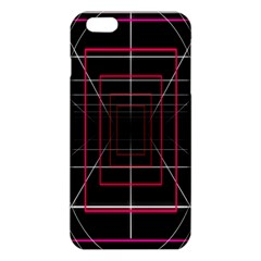Retro Neon Grid Squares And Circle Pop Loop Motion Background Plaid Iphone 6 Plus/6s Plus Tpu Case by Mariart