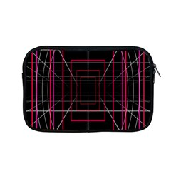 Retro Neon Grid Squares And Circle Pop Loop Motion Background Plaid Apple Macbook Pro 13  Zipper Case by Mariart