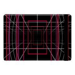 Retro Neon Grid Squares And Circle Pop Loop Motion Background Plaid Apple Ipad Pro 10 5   Flip Case by Mariart