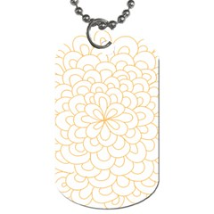 Rosette Flower Floral Dog Tag (two Sides) by Mariart