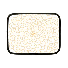 Rosette Flower Floral Netbook Case (small)  by Mariart