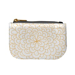 Rosette Flower Floral Mini Coin Purses by Mariart
