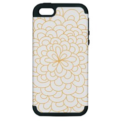 Rosette Flower Floral Apple Iphone 5 Hardshell Case (pc+silicone) by Mariart