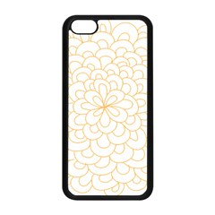 Rosette Flower Floral Apple Iphone 5c Seamless Case (black) by Mariart