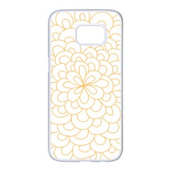 Rosette Flower Floral Samsung Galaxy S7 Edge White Seamless Case by Mariart