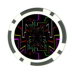 Seamless 3d Animation Digital Futuristic Tunnel Path Color Changing Geometric Electrical Line Zoomin Poker Chip Card Guard by Mariart