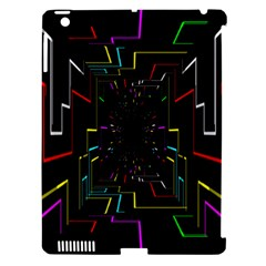 Seamless 3d Animation Digital Futuristic Tunnel Path Color Changing Geometric Electrical Line Zoomin Apple Ipad 3/4 Hardshell Case (compatible With Smart Cover) by Mariart