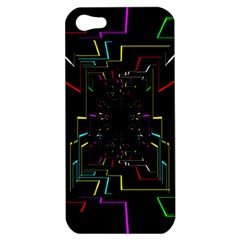 Seamless 3d Animation Digital Futuristic Tunnel Path Color Changing Geometric Electrical Line Zoomin Apple Iphone 5 Hardshell Case by Mariart