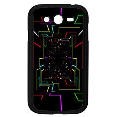 Seamless 3d Animation Digital Futuristic Tunnel Path Color Changing Geometric Electrical Line Zoomin Samsung Galaxy Grand Duos I9082 Case (black)