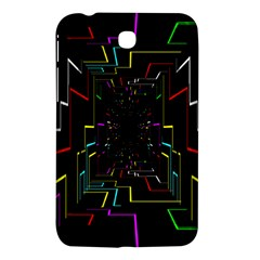 Seamless 3d Animation Digital Futuristic Tunnel Path Color Changing Geometric Electrical Line Zoomin Samsung Galaxy Tab 3 (7 ) P3200 Hardshell Case  by Mariart