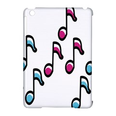 Sound Advice Royalty Free Music Blue Red Apple Ipad Mini Hardshell Case (compatible With Smart Cover)