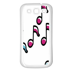 Sound Advice Royalty Free Music Blue Red Samsung Galaxy S3 Back Case (white) by Mariart