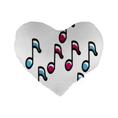 Sound Advice Royalty Free Music Blue Red Standard 16  Premium Flano Heart Shape Cushions by Mariart