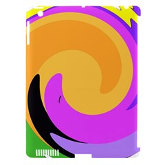 Spiral Digital Pop Rainbow Apple Ipad 3/4 Hardshell Case (compatible With Smart Cover) by Mariart