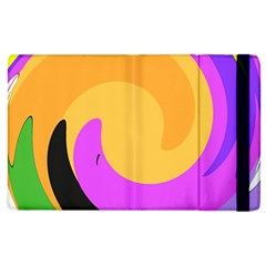 Spiral Digital Pop Rainbow Apple Ipad 3/4 Flip Case by Mariart