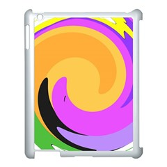 Spiral Digital Pop Rainbow Apple Ipad 3/4 Case (white) by Mariart
