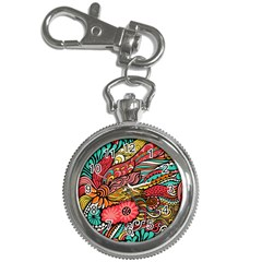 Seamless Texture Abstract Flowers Endless Background Ethnic Sea Art Key Chain Watches by Mariart
