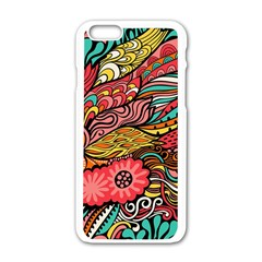 Seamless Texture Abstract Flowers Endless Background Ethnic Sea Art Apple Iphone 6/6s White Enamel Case by Mariart