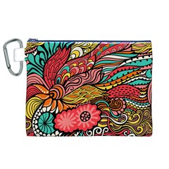 Seamless Texture Abstract Flowers Endless Background Ethnic Sea Art Canvas Cosmetic Bag (xl) by Mariart