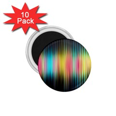 Sound Colors Rainbow Line Vertical Space 1 75  Magnets (10 Pack)  by Mariart