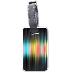 Sound Colors Rainbow Line Vertical Space Luggage Tags (two Sides) by Mariart