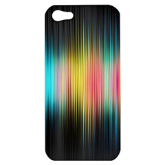 Sound Colors Rainbow Line Vertical Space Apple Iphone 5 Hardshell Case by Mariart