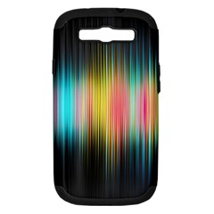Sound Colors Rainbow Line Vertical Space Samsung Galaxy S Iii Hardshell Case (pc+silicone) by Mariart