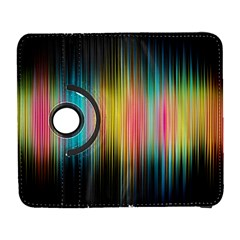Sound Colors Rainbow Line Vertical Space Galaxy S3 (flip/folio) by Mariart
