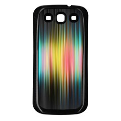 Sound Colors Rainbow Line Vertical Space Samsung Galaxy S3 Back Case (black) by Mariart