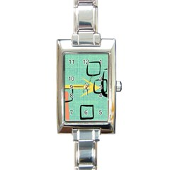 Women s Rectangular Italian Charm Watch by JULIEGEESCOLLECTABLES