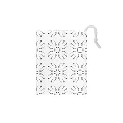 Squid Flower Floral Polka Dots Sunflower Drawstring Pouches (xs)  by Mariart