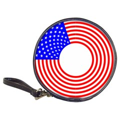 Stars Stripes Circle Red Blue Classic 20 Cd Wallets by Mariart
