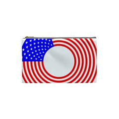 Stars Stripes Circle Red Blue Cosmetic Bag (small)  by Mariart