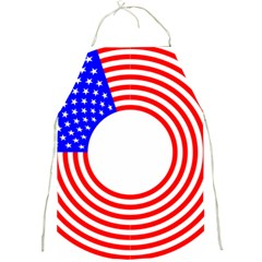 Stars Stripes Circle Red Blue Full Print Aprons by Mariart