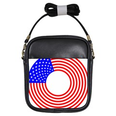 Stars Stripes Circle Red Blue Girls Sling Bags by Mariart