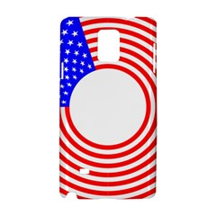 Stars Stripes Circle Red Blue Samsung Galaxy Note 4 Hardshell Case by Mariart