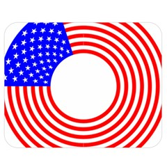 Stars Stripes Circle Red Blue Double Sided Flano Blanket (medium)  by Mariart