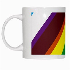Triangle Chevron Rainbow Web Geeks White Mugs by Mariart