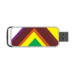 Triangle Chevron Rainbow Web Geeks Portable Usb Flash (two Sides) by Mariart