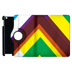 Triangle Chevron Rainbow Web Geeks Apple Ipad 2 Flip 360 Case by Mariart